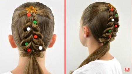 Christmas tree pull-through braid